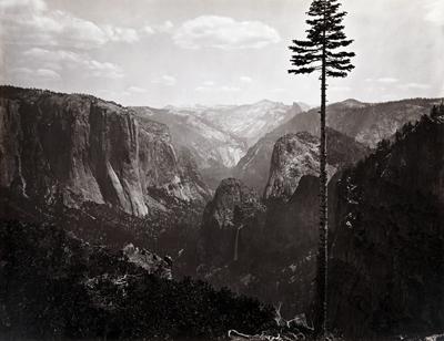 Photo of Yosemite valley ca. 1865