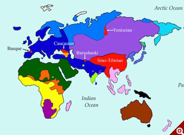 Analysis Of Of The Worlds Known Languages Traces Evolution - Linguistic map of the world