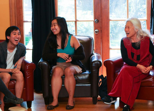 Maxine Hong Kingston speaks with Stanford undergrads
