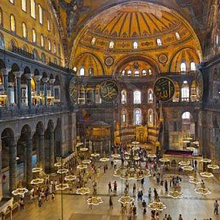Interior of Hagia Sophia cathedral