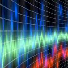 Picture of sound waves