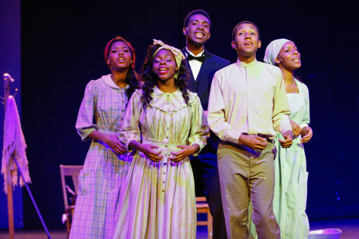 Students and members of the Bay Area gospel community perform Higher Ground, an original scholarly musical that explores the connection between black music and social justice.