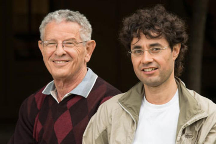 Stanford biology Professor Marcus Feldman, left, and Cuahtemoc Garcia-Garcia, a graduate student in Iberian and Latin American Cultures, combined forces to investigate the evolution of Portuguese as spoken in Brazil.