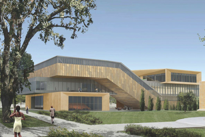 Architectural rendering of the McMurtry Building, the new home of the Art & Art History Department