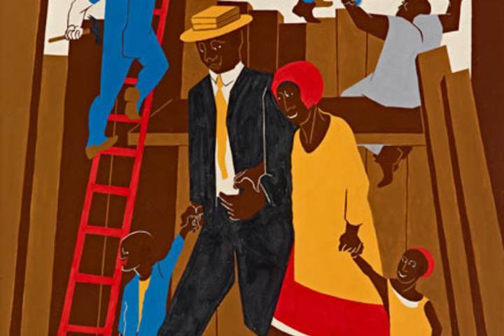 Jacob Lawrence (U.S.A., 1917–2000), Poster Design for the Whitney Exhibition, 1974. Gouache, tempera, and graphite on paper.