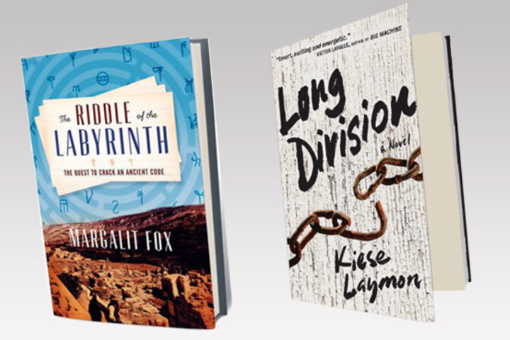 "covers of ""The Riddle of the Labyrinth"" and ""Long Division"" books"