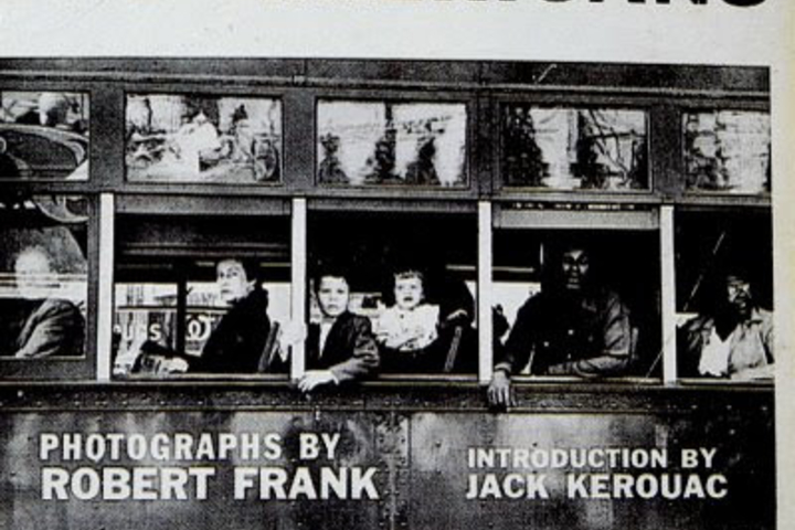 """An image of the cover of photographer Robert Frank's book, """"The Americans."""""""