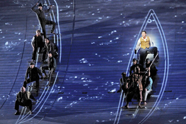 Scene from Moby Dick opera