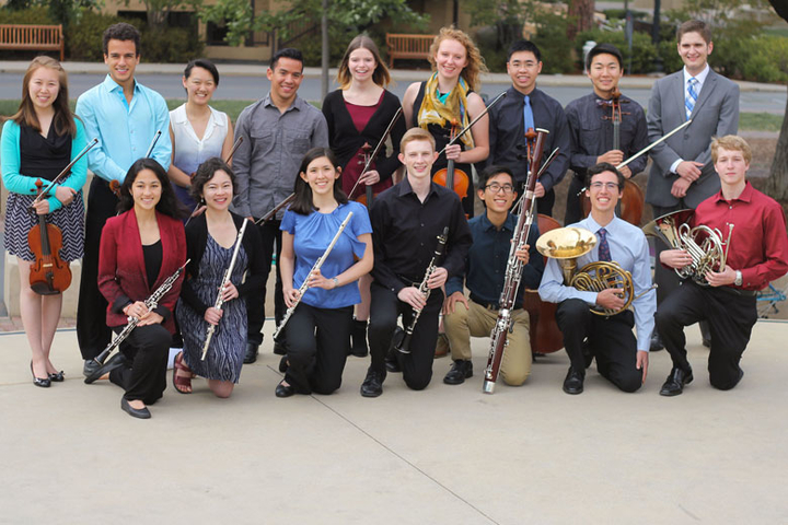 Group photo of conductorless orchestra