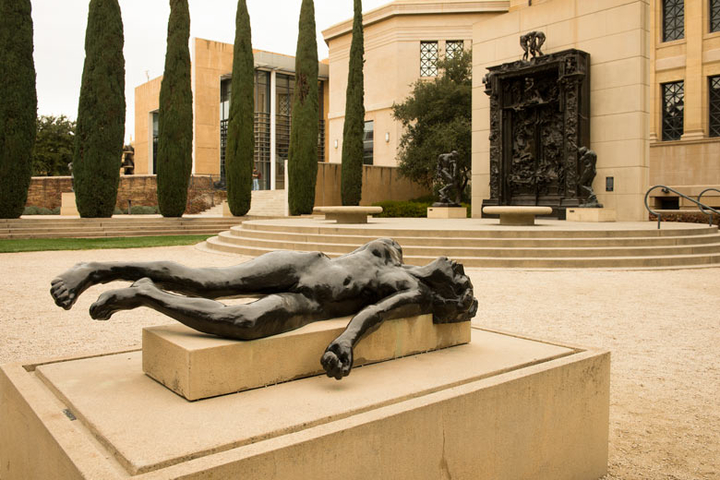 Rodin sculpture at Stanford