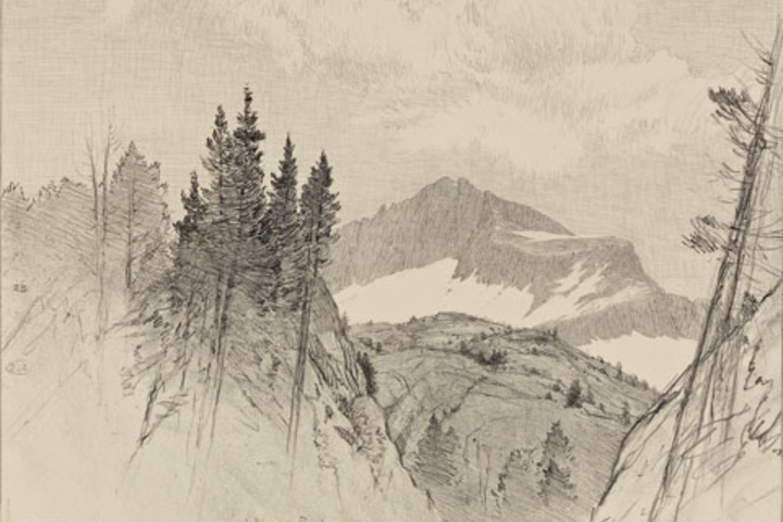 A Sierra peak by Bolton Coit Brown.