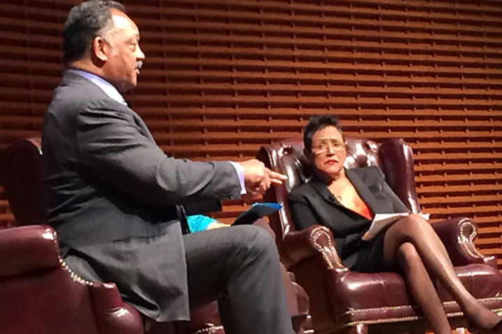 "The Rev. Jesse L. Jackson and former Black Panther Chair Elaine Brown were the opening speakers in the ""Civil Rights Icons"" program that will continue into the fall."