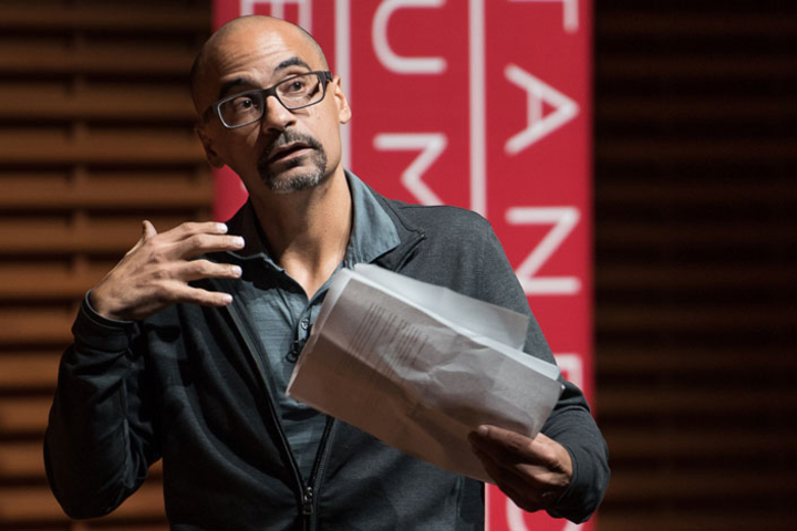 Author Junot Díaz delivered this year's Presidential Lecture in the Humanities and Arts.
