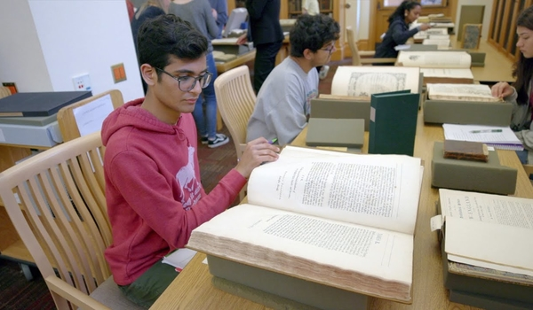 Stanford students learn about humanities research through hands-on discovery