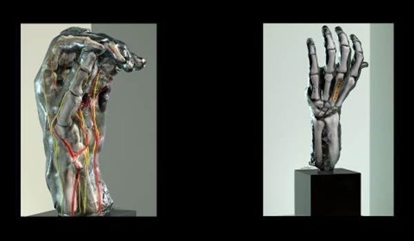 High tech scans reveal Rodin's hands